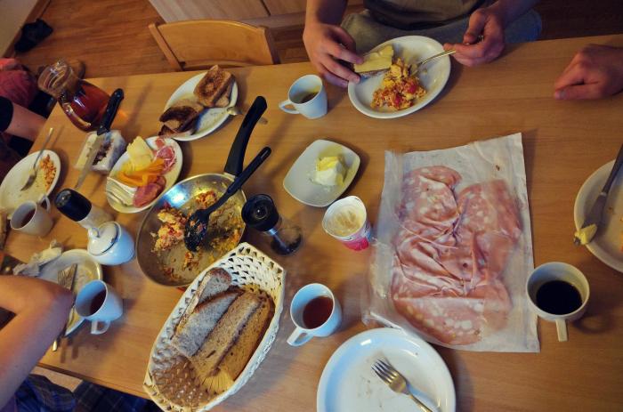 Śniadanie w Pinzolo