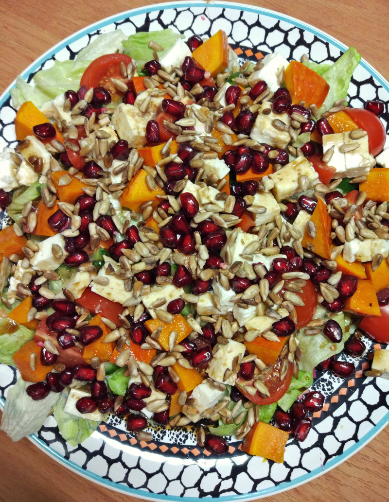 Sałatka marynowana dynia + pomidory + ser feta