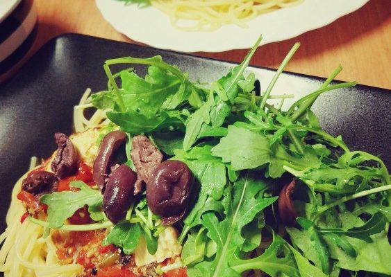 Makaron pieczona ricotta + pomidorki