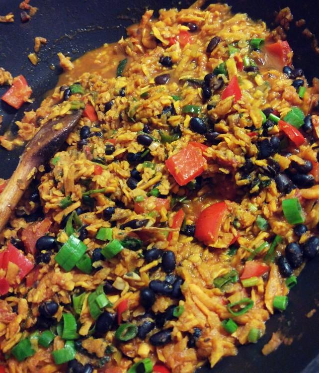 Chilli bataty + czarna fasola + papryka