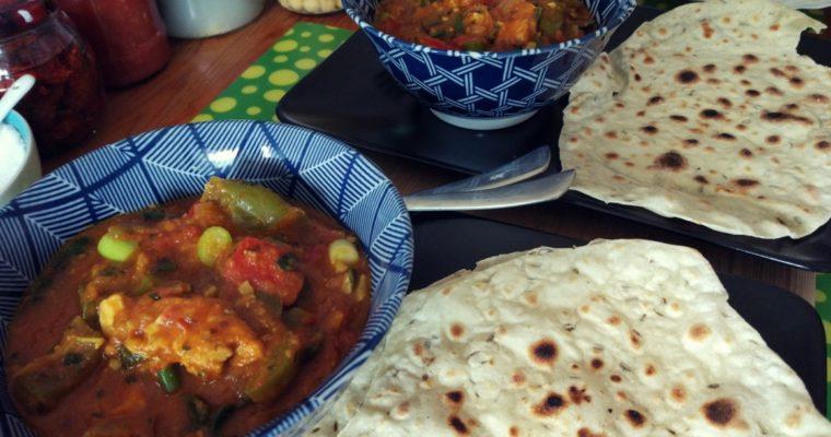 Curry indyjskie kurczak + papryka + pomidory