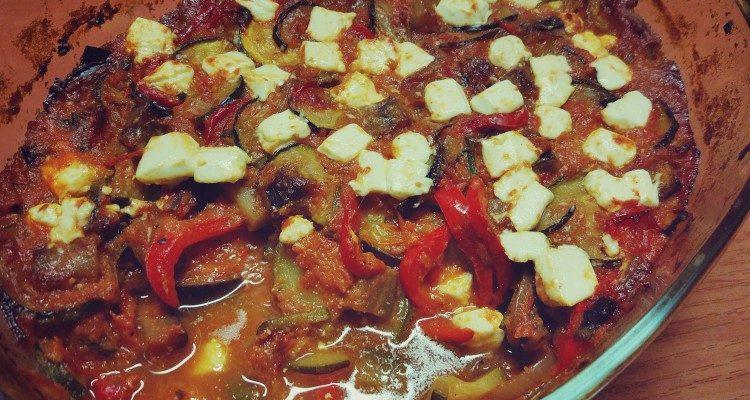 Ratatouille zapiekany z serem feta
