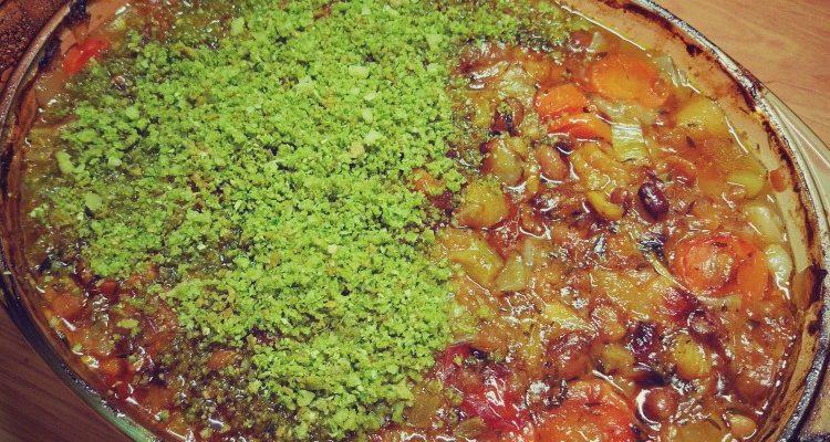 Potrawka z kaczki z jabłkami, cydrem i ziołowo-parmezanową posypką