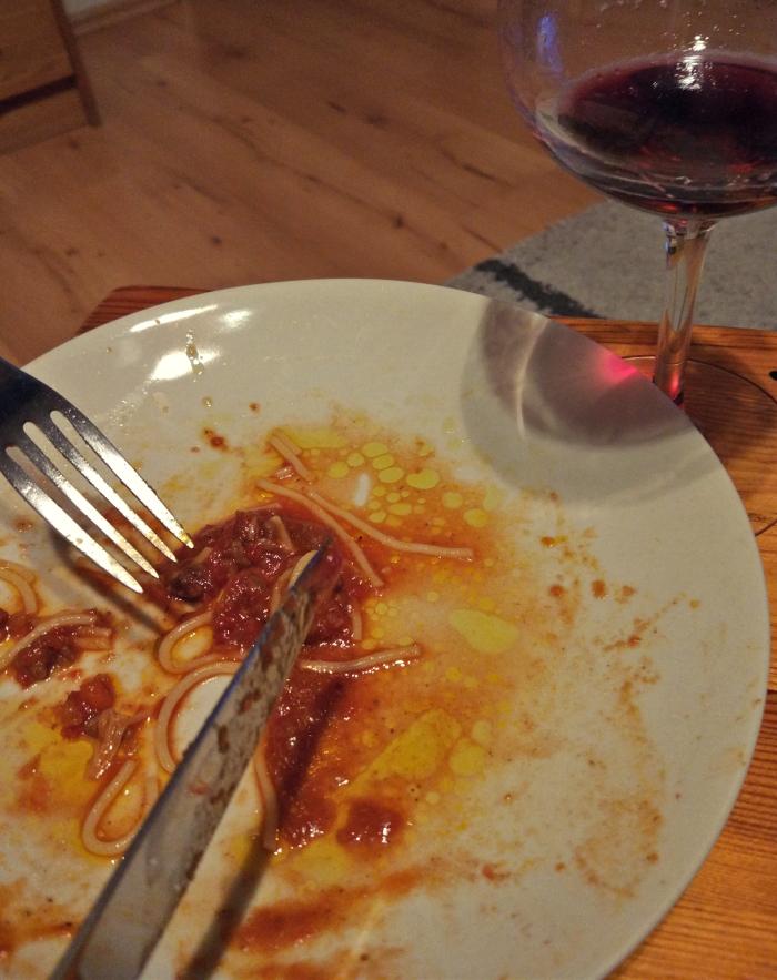 (to było pyszne) Spaghetti Bolognese :)