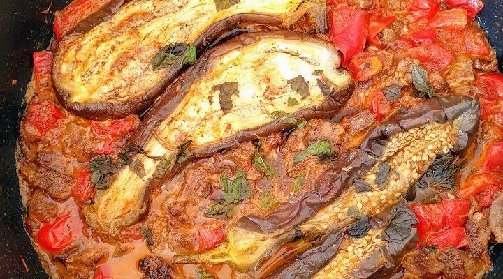 Bakłażan z jagnięciną po marokańsku