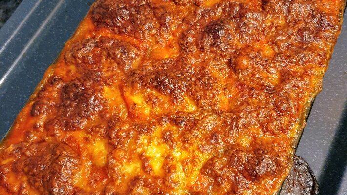 Zapiekanka z cukinią i ragu alla bolognese